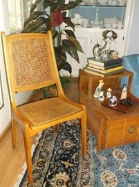 Mid-century side chair w/cane seat and back