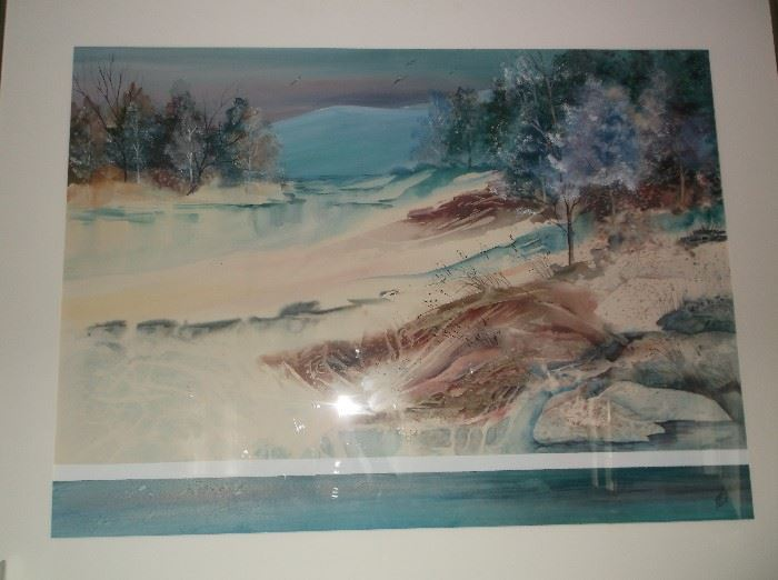 Original signed water color by Linda Fail