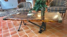 Antique anchor coffee table