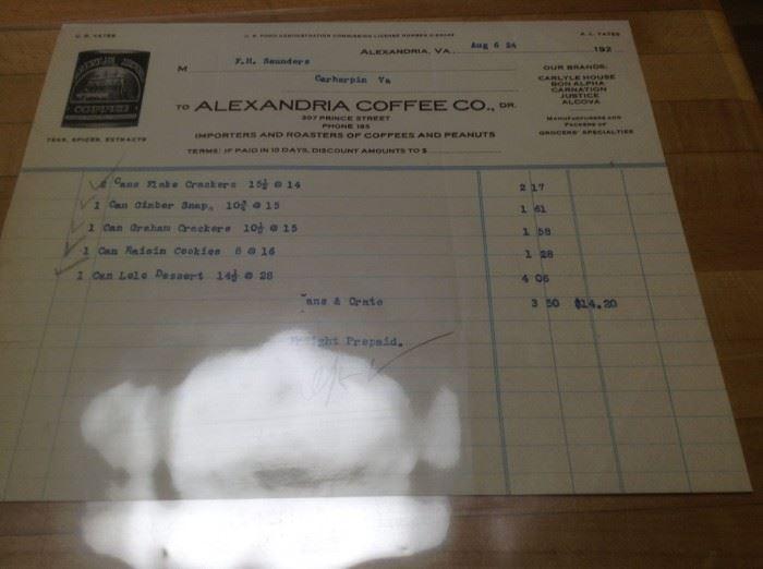 1924 ALEXANDRIA COFFEE CO.