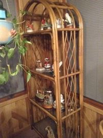 Rattan bookcase