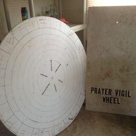 Wooden spinning Prayer Wheel