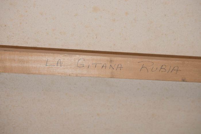 Oil On Canvas Joan Coleman, La Gitana Rubia-84x68