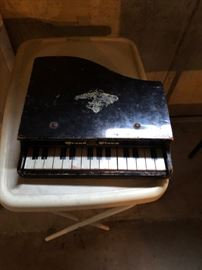 antique kids toy piano
