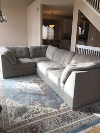 BEAUTIFUL SECTIONAL COUCH, TAUPE