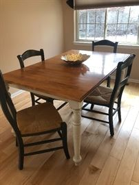 KITCHEN TABLE  w/ 6 CHAIRS