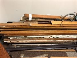 Salvaged antique baseboards & trim