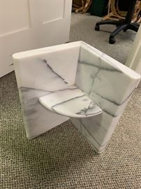 marble table base, 2 (with glass top)