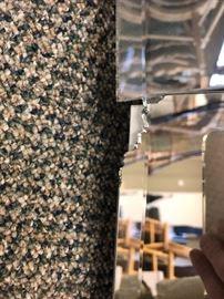 Chipped glass on bottom corner