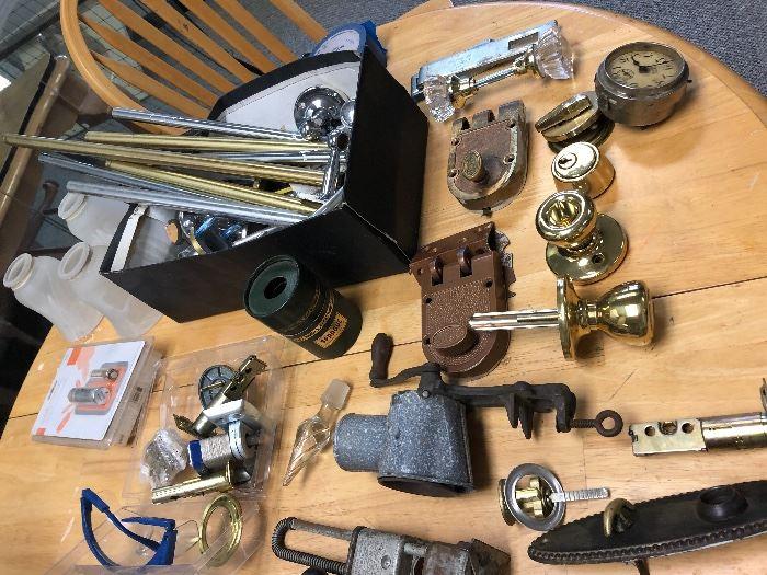 Vintage locks, knobs