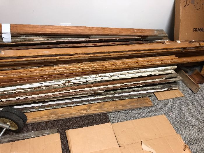 Antique trim and baseboards