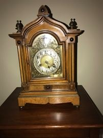 Antique Gustav Baker clock. Good condition. Missing pendulum.
