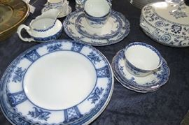 Flow blue dishes.