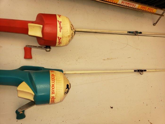 Vintage children's fishing poles