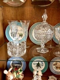 Waterford millennium stemware and bowl