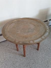 Etched Tray Table with Stand