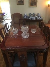 Dining table, with 8 chairs