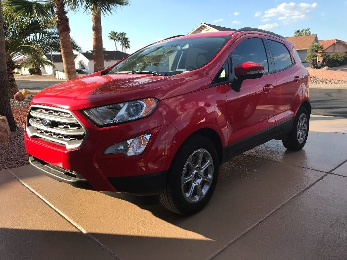 2018 FORD  ECOSPORT WITH FRONT WHEEL DRIVE. UNDER.  1000 MILES. YES  1000.    SOLD.  SOLD