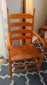 One of 2 armchairs and 4 side chairs. Well made.