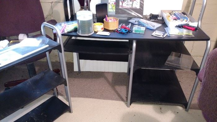One of several small desks