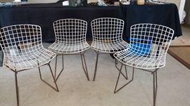4 children's Bertoia chairs