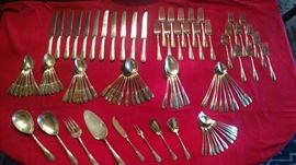 """Manchester """"Polly Lawton"""" sterling flatware 1935. There are 108 pieces, roughly service for 10 with extras and serving pieces"""
