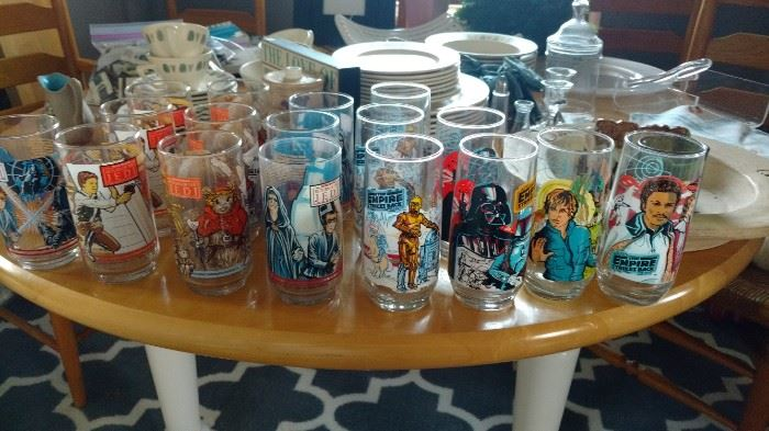 Star Wars collectible glasses