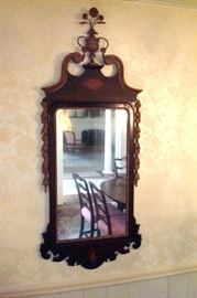Chippendale inlaid mirror.