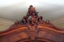 Cornice top on armoire