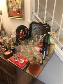 Vintage Liquor And Bar Ware