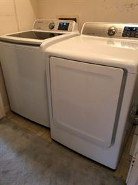 2016 Samsung top-loading washer and electric dryer