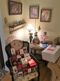 DOLLS, ORNAMENTS, ART AND MORE