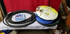 Garden Hose, Collapsible Leaf Bags and