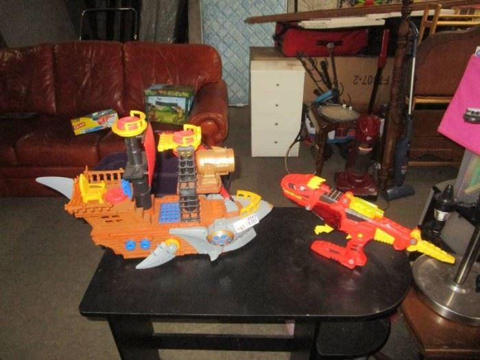 Dinosaur and Pirate Ship Toys