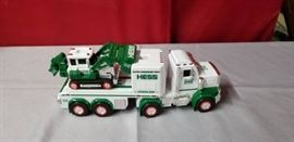 Hess Tractor Trailer with Dozer Toy Truck Set