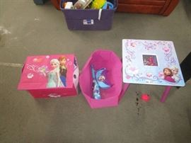 FROZEN Storage Totes and Childs Table and Desk W ...