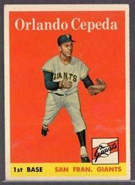1958 Topps Orlando Cepeda 343 Rookie Card San Fra ...