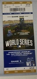 2014 World Series Game One Ticket Signed By Danny ...