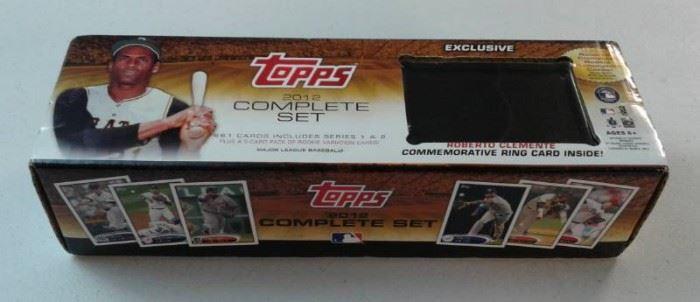 Complete 2012 Topps Baseball Card Set 1660 In Ne ...
