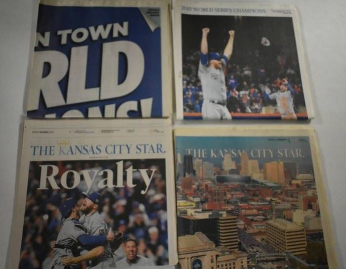 Complete Set of 2015 World Series Newspapers for t ...