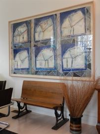 SCHOOLHOUSE ANTIQUES AND LARGE ARTWORK
