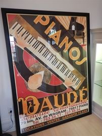 PIANOS DAUDE FRAMED POSTER