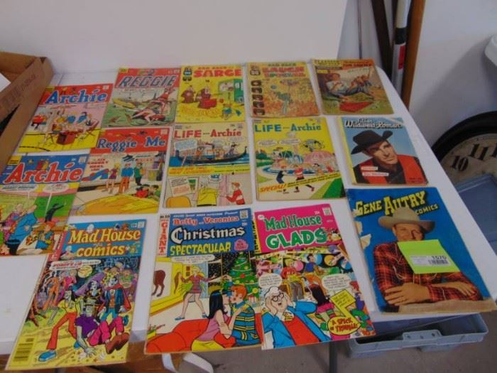 3 Western Comic Books and Lot of Sad Sack Archie ...