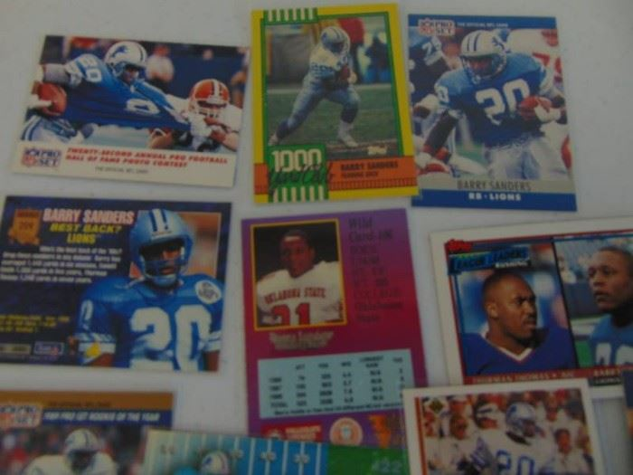 40 Barry Sanders Cards with Rookie