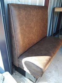 5 Set of Brown Booths..