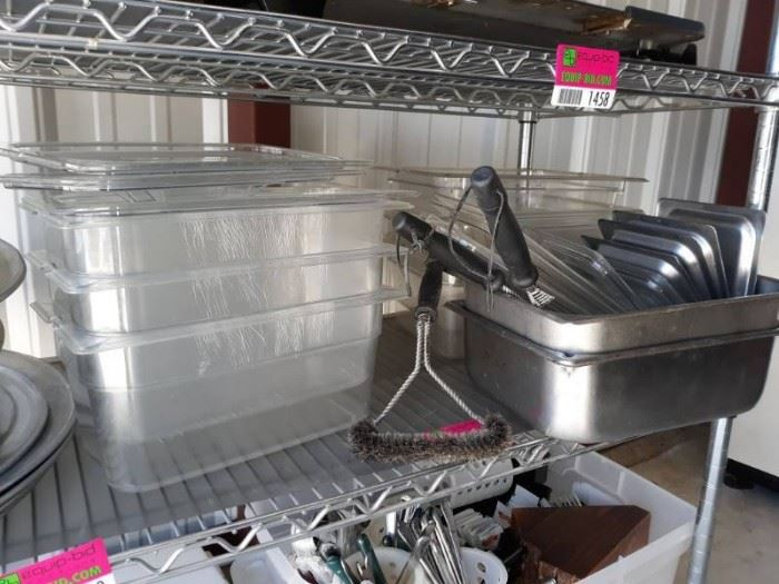 Plastic Containers, Stainless Steel Containers.
