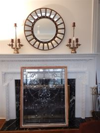 MIRRORS AND LEADED GLASS WINDOWS