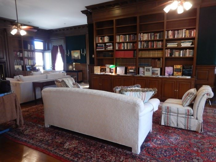 SOFAS, CHAIRS BOOKS