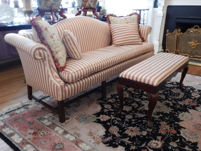 STRIPED SOFA AND BENCH