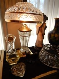 PAIR OF THESE CRYSTAL LAMPS
